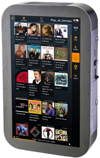 New generation of our touchscreen jukebox with metal design